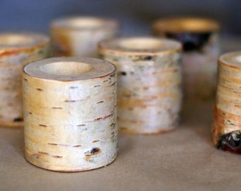 10 birch candle holders, log tea light holder, woodland wedding , rustic wedding decor, home decor, country wedding, christmas decor