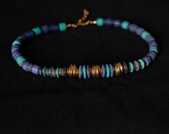 Necklace vintage blue turquoise stones