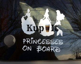 Princess/Princesses on board you choose window decal by kup it