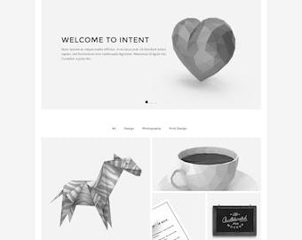 Intent - Minimal Portfolio HTML Template (live preview below)