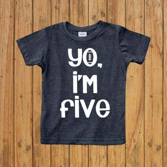 5 Year Old Birthday Shirt Boys Fifth Five Yo