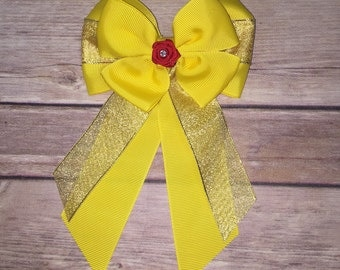 Disney Inspired Princess Belle Bow