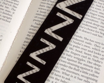 """Bookmark, Typography Bookmark, """"Zzz..."""", Book Lovers Gift, Gift for Readers, Book Place Holder, Reading Marker, Funny Bookmark, UK"""