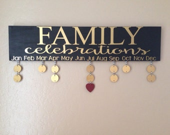Black and gold celebrations board