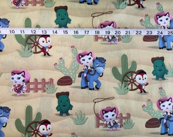 Disney Sheriff Callie Western Cotton Fabric by the 1/2 Yard