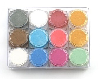 Metalic mica powder 12 color set