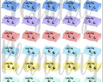 Kawaii Lazy Day Pillow Stickers