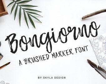 Handwritten font condensed font tall font script font Modern script font