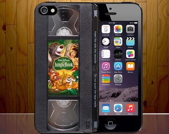 Jungle Book Mowgli Shere Khan Balu Akila Disney Retro VHS Cassette Hard Plastic Phone Cover Z465