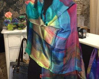 Natural silk scarf