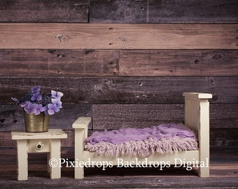 Digital Backdrops/Props (Newborn Bed Prop Multi-toned Wood Backdrop) Digital Download