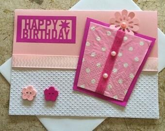 Handmade Present birthday card