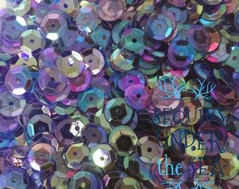 7MM Iridescent Clear Blue Purple Rainbow Loose Sequins