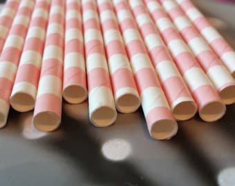 Lot of 12 straw square pink