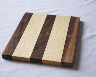 Small Wood Cutting Board, Cheese Board, Bread Board, Wooden Trivet