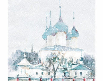 Travel Postcard from Russia Winter Yaroslavl, Russia