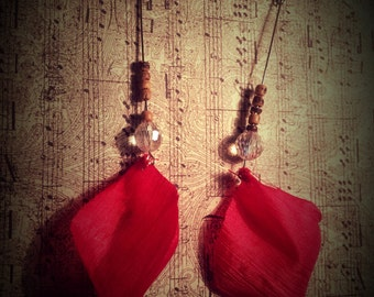 Rose Petal Earrings