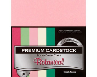 8.5 x 11 Premium Card Stock - Core'dinations Card Stock - Smooth Card Stock - Acid Free Card Stock - Botanical Card Stock - Assorted - 7-006