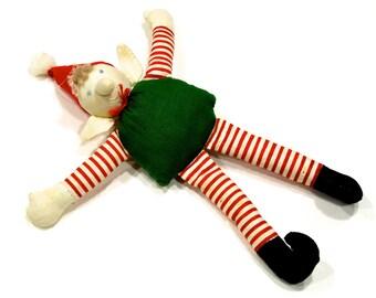 VINTAGE: Delton Product Elf Ornament - Stuffed Elf Ornaments - (15-D2-00006566)