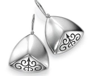 Sterling Silver Earrings Fairy Tale Patterns