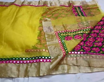Kota Silk With Mirror work