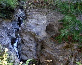 Nature Photography Waterfall Print-Part of a Series, Watkins Glen State Park-New York