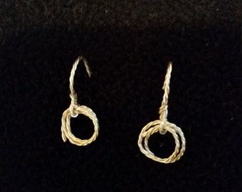 Silver Twisted Rope Earrings