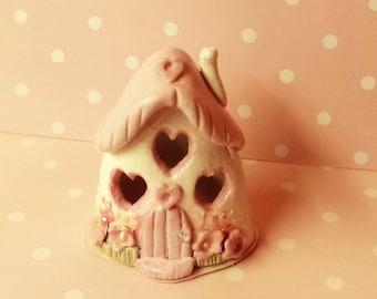 Mini pink cottage, fairy house,