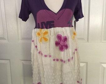 Surf inspired floral Vintage Chenille Drop Dress, medium