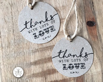 Round Rustic Thank you Tags // 5cm Round