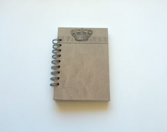 4x6 Blank Spiral Notebook - Crowned