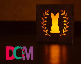 "Wooden candle holder ""Hare"""