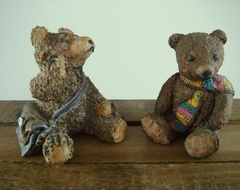 Teddy Bears Peter Fagan Bears X2 Collectible Vintage Ornaments Teddies Colourbox Bears Bruno Roger