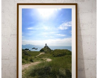 Afternoon Sun | Lighthouse Wall Decor, Lighthouse Print, Lighthouse Photography, Lighthouse Art, Lighthouse Decor, Anglesey Art, Newborough