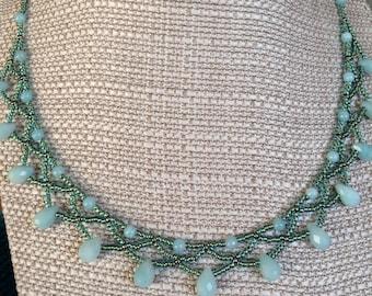 Amazonite Briolette Princess Necklace