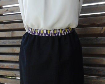 skirt in linen and wax
