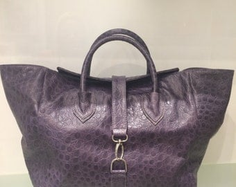 NEW Genuine Leather  Purple Bag