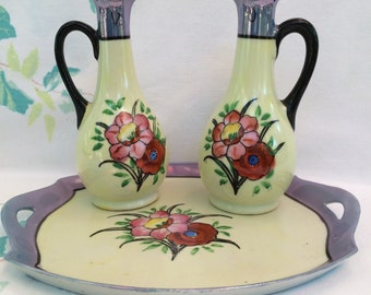 Lusterware Oil & Vinegar Set