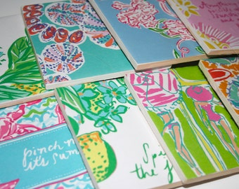 Lilly Pulitzer inspired Coasters