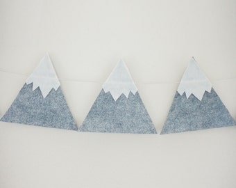 Snow capped mountain garland