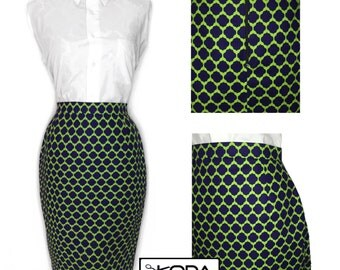 Lattice High Waist Pencil skirt, women's skirt, pencil skirt