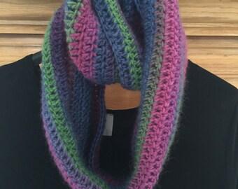 100% wool infinity scarf
