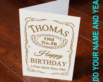 18th 20th 30th 40th 50th 60th Add Name And Yaer Custom Birthday Card