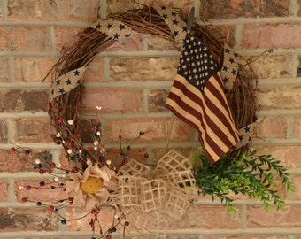 Primitive Americana Wreath