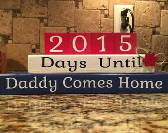 Countdown Blocks - Military Home Decor - Military Blocks - Wooden Home Decor - Family Blocks - Military Family - Military Homecoming