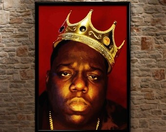 Biggie Smalls, Crown, Notorious BIG, Luke Cage, Huge, High Quality, Poster Print Art A0 A1 A2 A3+