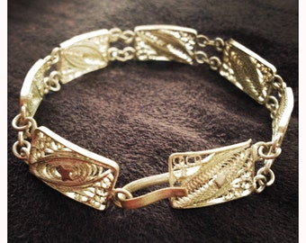 Silver galaxy themed bracelet