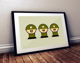 Military Art, Military Wall Art, Military Gift, Military, Soldier, Wall Art, Nursery Decor, Military Decor, boys decor, Baby Boy Nursery