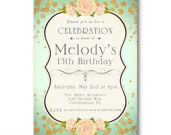 Etsy your place to buy and sell all things handmade for Where can i buy party invitations