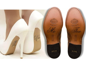 Wedding Shoe Decal Shoe Sticker I Do and Me Too Shoe Decal Bride and Groom Wedding Decal Bridal Shoe Wedding Decorations